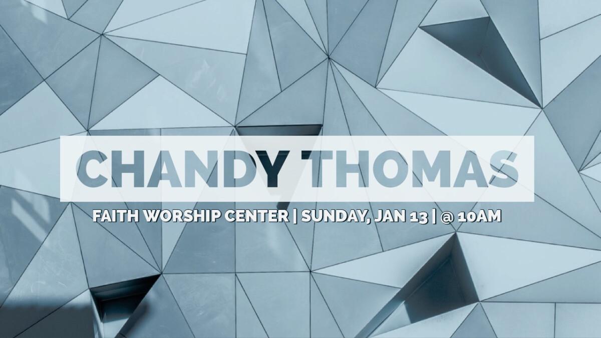 Guest Speaker:  Chandy Thomas